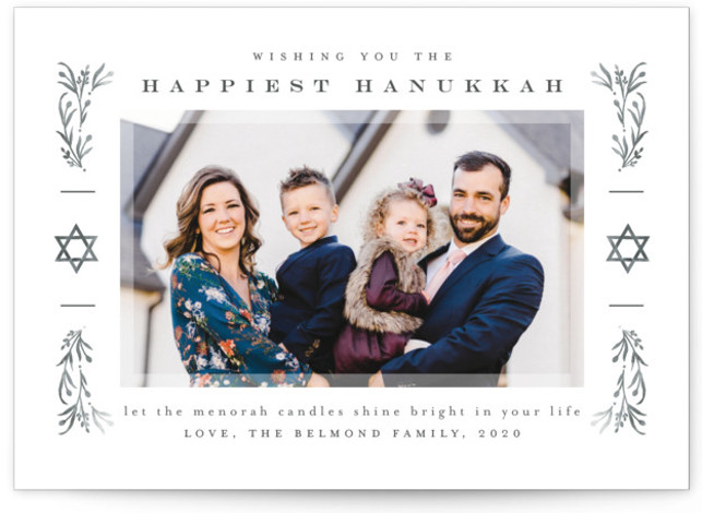 Frame of stars Hanukkah Cards