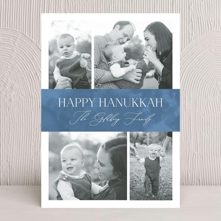 """Elegant Hanukkah"" - Hanukkah Cards in Sky by Nicole Barreto."