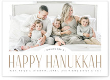 This is a brown hanukkah card by Kann Orasie called Classic headline with standard printing on smooth signature in standard.