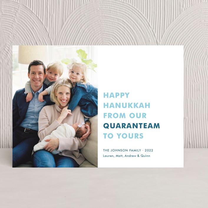 """The Quaranteam"" - Hanukkah Cards in Blue Spruce by Toast & Laurel."