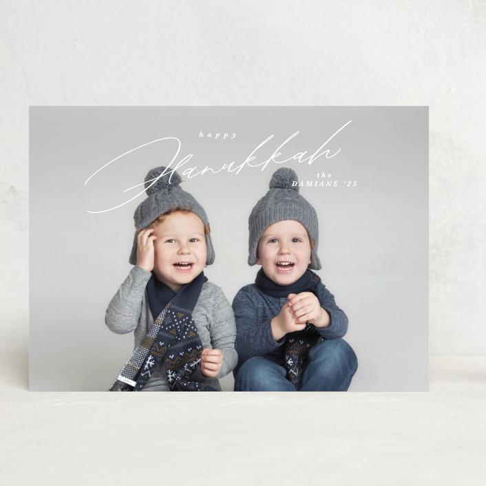 """""""Crisp"""" - Hanukkah Cards in Snow by Kate Ahn."""