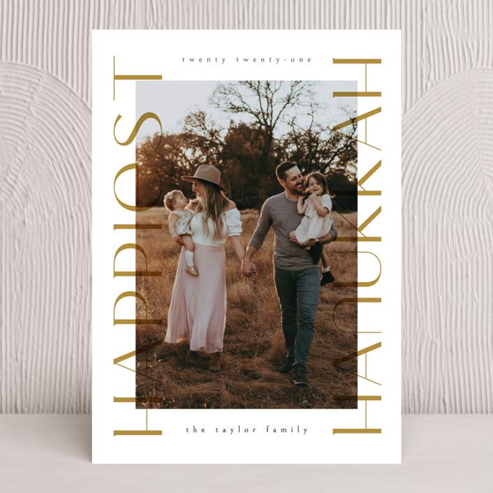 """Hanukkah postcard"" - Hanukkah Cards in Gingerbread by Ana de Sousa."