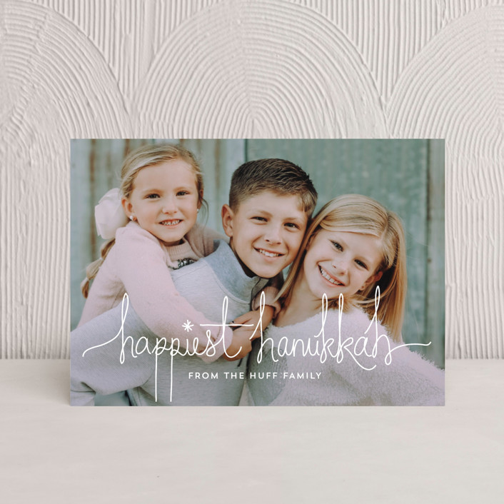 """Hanukkah Revelry"" - Hanukkah Postcards in Snow by Design Lotus."