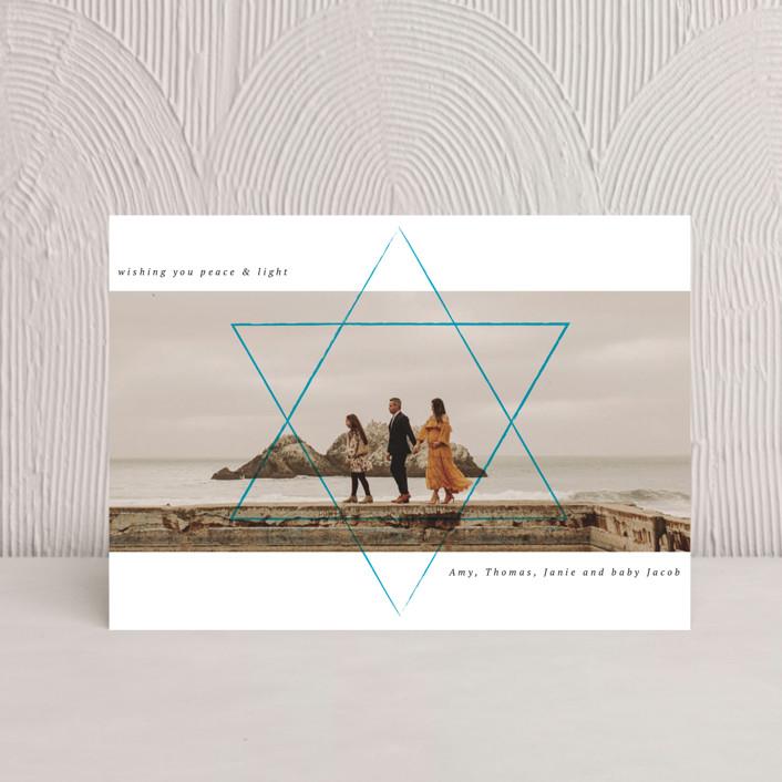 """Shine the way"" - Hanukkah Postcards in Sky by Kann Orasie."