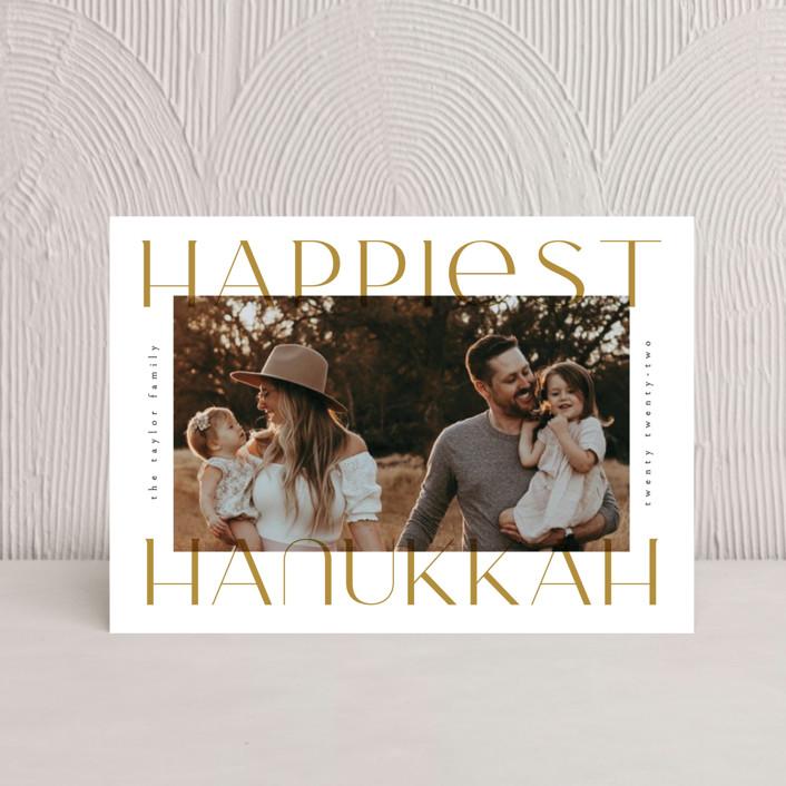 """Merriest&Bright"" - Hanukkah Postcards in Gingerbread by Ana de Sousa."