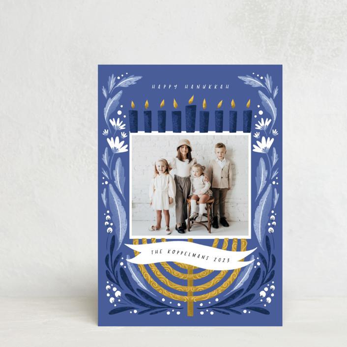 """""""Season of Miracles"""" - Hanukkah Postcards in Winter Sky by Grae."""
