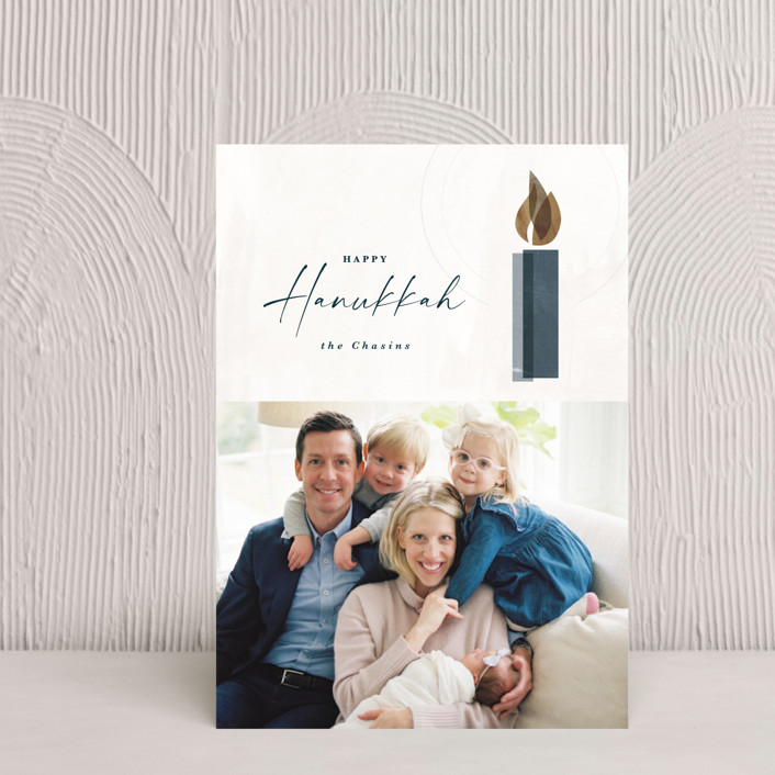 """""""Candlelight"""" - Hanukkah Postcards in Champagne by Kate Ahn."""