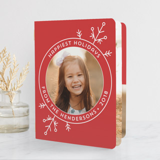 Deco Flake Holiday Booklette Cards