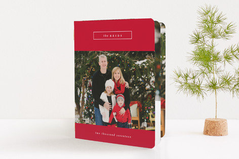 Family Name Holiday Booklette Cards