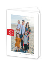 This is a red holiday booklette card by Ellis called Snowflake Tab with standard printing on signature80 in booklette.