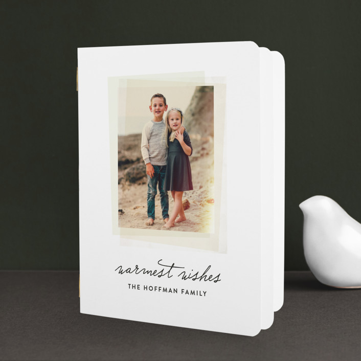"""Instant Film"" - Modern, Simple Holiday Booklette Cards in Spruce by Olivia Kanaley."