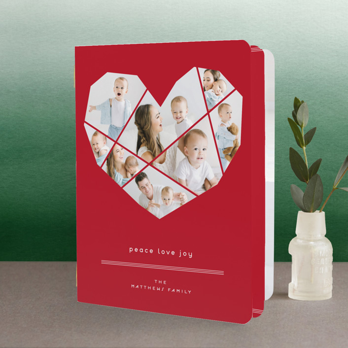 """""""Complete Love"""" - Modern Holiday Booklette Cards in Brick by fatfatin."""