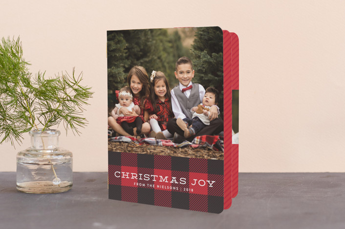 plaid tidings buffalo check christmas cards