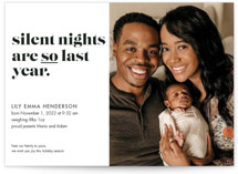 This is a white babys first christma by Holly Rose called silent nights, so last year with standard printing on signature in petite.