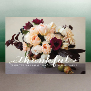 Scripted Thanks Business Holiday Cards