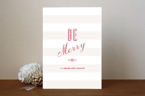 Merry Stripe Business Holiday Cards