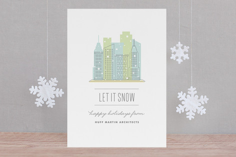 City Flurry Business Holiday Cards