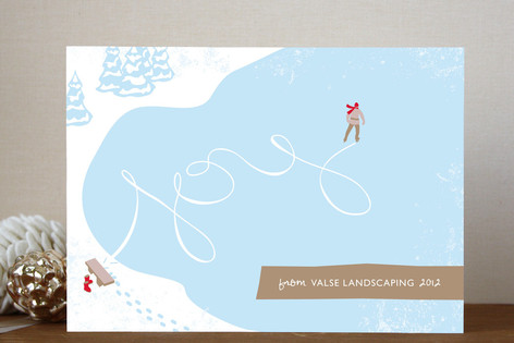 Skating Joy Business Holiday Cards