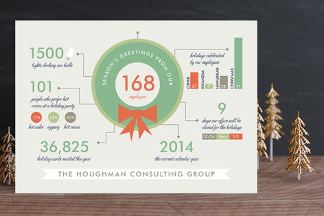 Holiday Infographics Business Holiday Cards