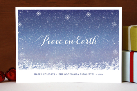 Calm Snow Business Holiday Cards