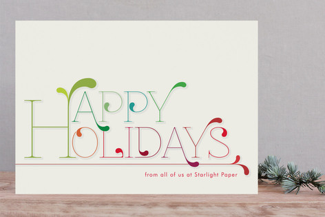 Holiday Colors Business Holiday Cards
