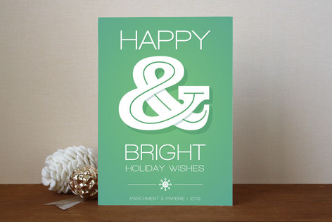 Wishful Ampersand Business Holiday Cards