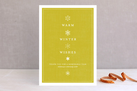 Vintage Snows Business Holiday Cards