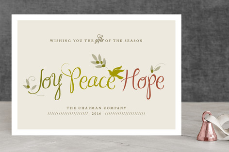 Gifts of the Season Business Holiday Cards