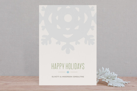 Crafted Snowflake Business Holiday Cards