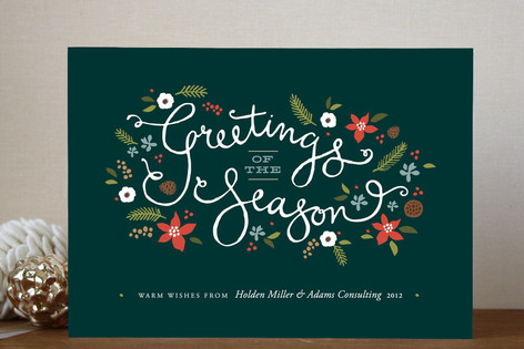 Greetings of the season business holiday cards by minted greetings of the season business holiday cards colourmoves