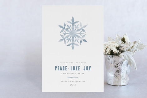Flurried Strokes Business Holiday Cards