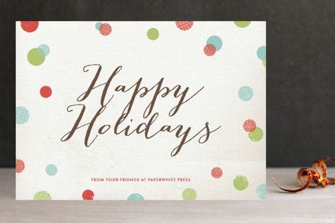 Dotty Holiday Business Holiday Cards
