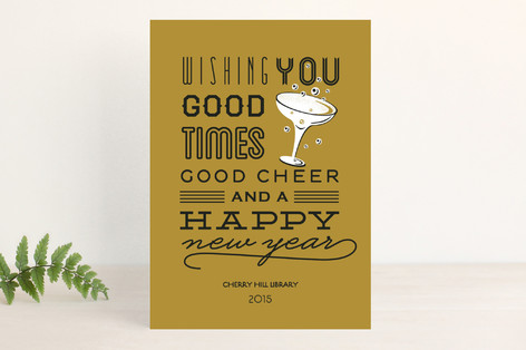 Good Cheer & Happy New Year Business Holiday Cards