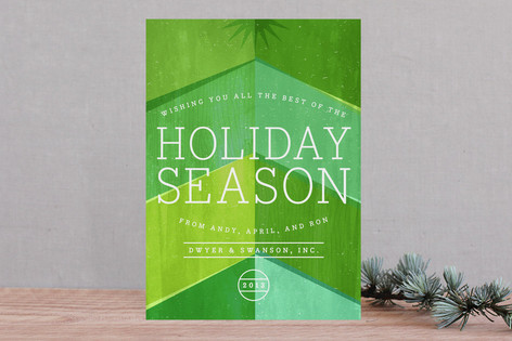 Chevron Tree Business Holiday Cards