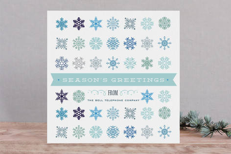 Snowflake Cornucopia Business Holiday Cards