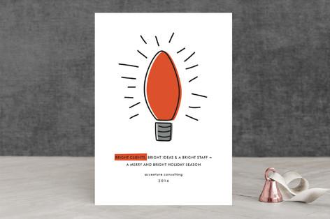 Lightbulb Business Holiday Cards
