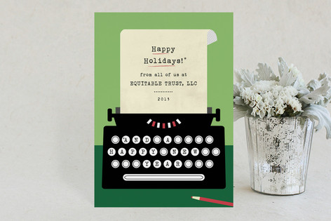 Typewriter Business Holiday Cards