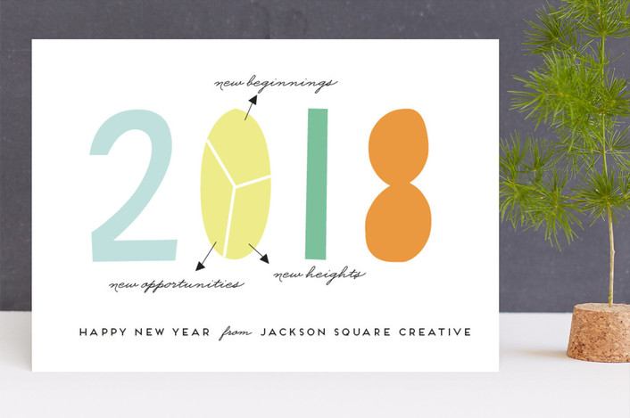 """New year plan"" - Business Holiday Cards in Candy by Anupama."
