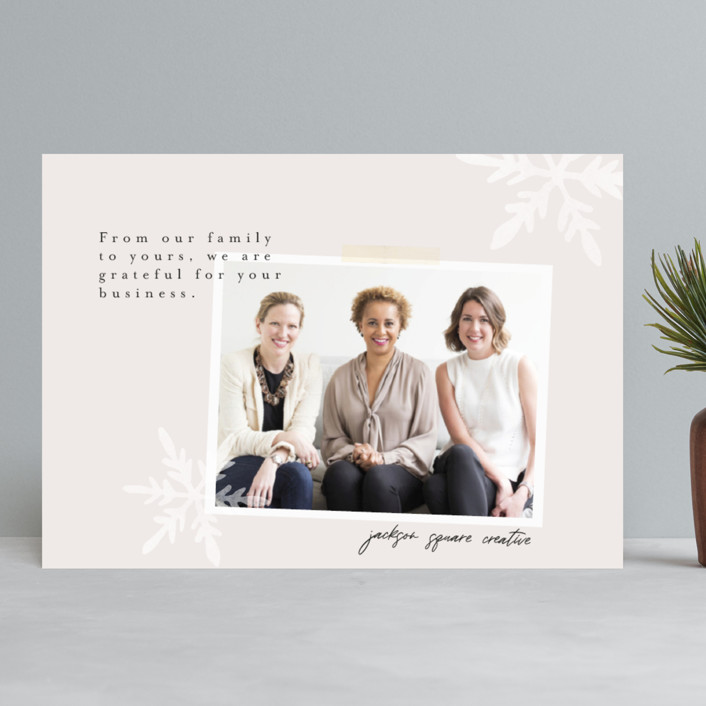 """""""Modern Scrapbook"""" - Business Holiday Cards in Stone by Morgan Kendall."""
