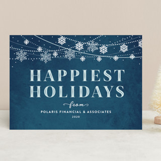 Snowflake Garland Business Holiday Cards