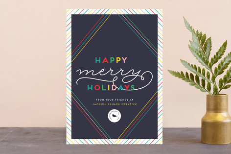 Happy Merry Holidays Business Holiday Cards