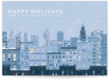 This is a white business holiday card by Laura Mitchell called Holidays in the City with standard printing on signature in standard.