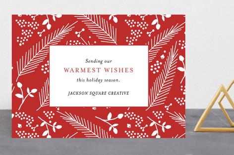 Festive Foliage Business Holiday Cards