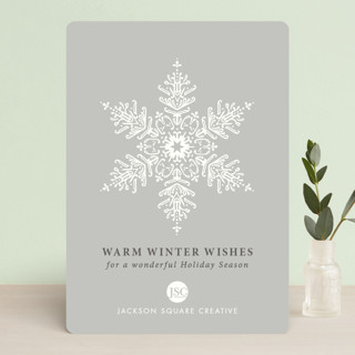 Snow Crystal Business Holiday Cards