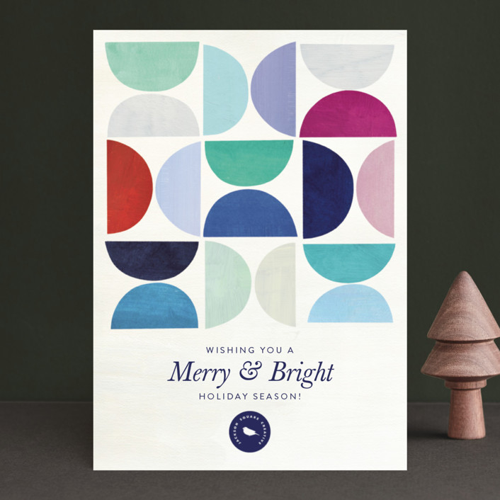 """""""Half Circle Pattern"""" - Modern Business Holiday Cards in Gumdrops by melanie mikecz."""