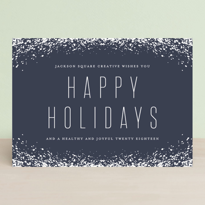 """""""Snow Frame"""" - Business Holiday Cards in Midnight by Lehan Veenker."""