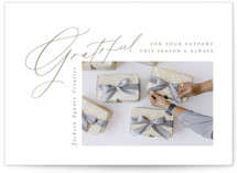 This is a white business holiday card by Amy Kross called Our Corner with standard printing on signature in standard.
