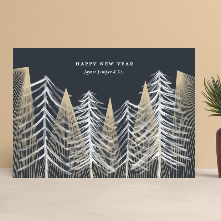 """Looking Up"" - Modern Business Holiday Cards in Magical by Kaydi Bishop."