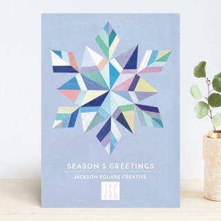 Geometric Snowflake Business Holiday Cards