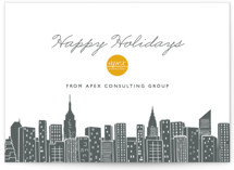 This is a grey business holiday card by Hooray Creative called Big City - New York with standard printing on signature in standard.